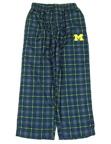 Michigan Wolverines Kids Plaid Pajama Sleep Pants (Medium 5/6)