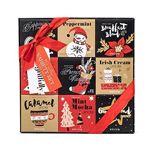 Holiday Latte Variety Gift Set | 9 Different Seasonal Coffee...