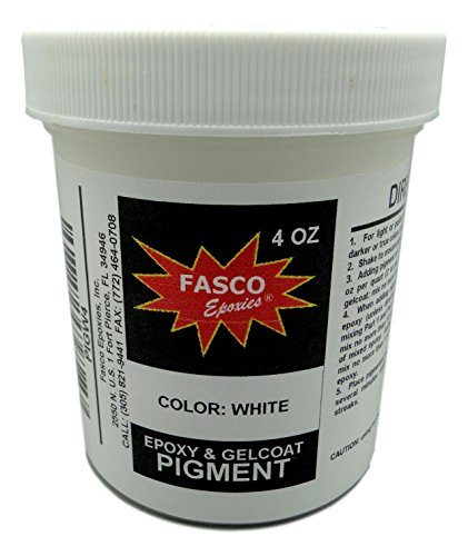 (White Pigment for Epoxy Resin, Gelcoat, Paint, Latex - 4 oz)