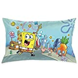HYHACZX Spongebob Squarepants Sofa Office Decorative Pillowslip Gift Ideas Household Pillowcase 20x30 Inches (Double Side Printed)
