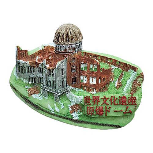 Hiroshima Japan Original Explosion Dome 3D Refrigerator Magnet Travel Sticker Souvenirs Collection,Resin Japan Fridge Magnet Home & Kitchen Decoration from China (Shirakawa white)