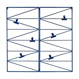 Kate and Laurel Whitt Wire and Clips Metal Geometric Wall Organizer, Blue