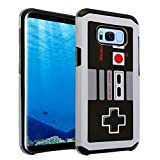 Cheap Galaxy S8 Case, IMAGITOUCH 2-Piece Style Slim Fit Armor Case with Dual Layer Protective Cover Air Cushion Design Retro Game Controller for Samsung Galaxy S8 NES Controller Hybrid