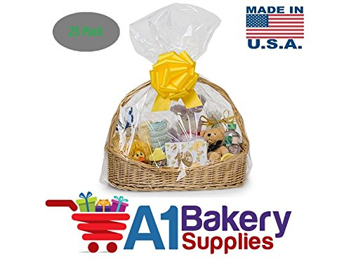 Clear Cellophane Bags Basket Bags Cello Gift Bags Extra Large Flat Bag 25 Pack 24 In X 30 In Size