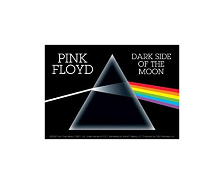Pink floyd dark side of the moon rock band music bumper sticker decal by superheroes