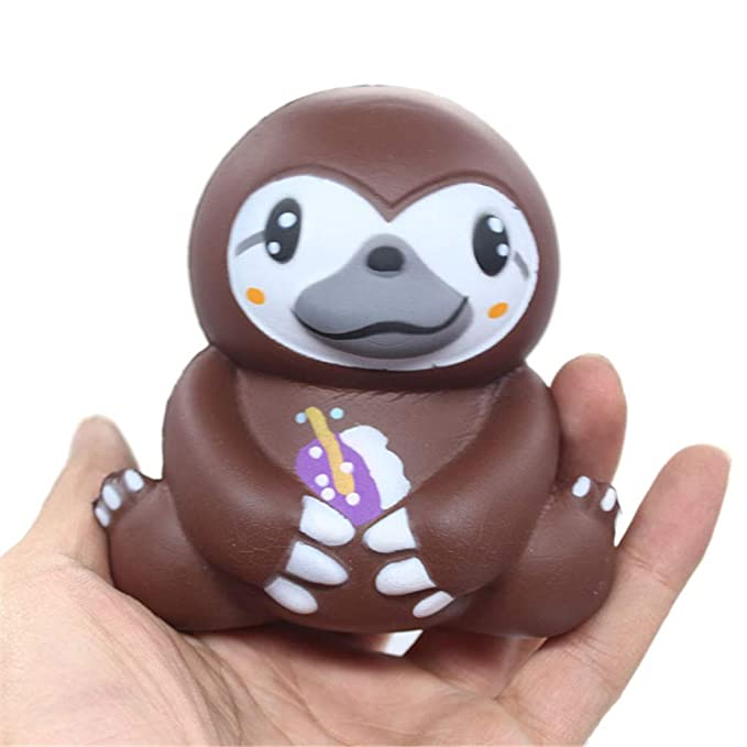 Amazon.com: LtrottedJ Adorable Squishies Soft Sloth Slow Rising Fruit Scented Stress Relief Toys Gifts (B): Toys & Games