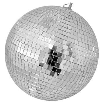 mirror ball disco bal diameter 25 cm amazon co uk musical instruments