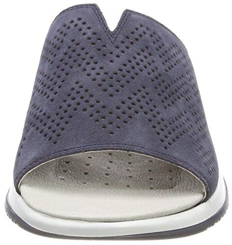 Caprice Damen 27103 Pantoletten Blau (Navy Suede 816)