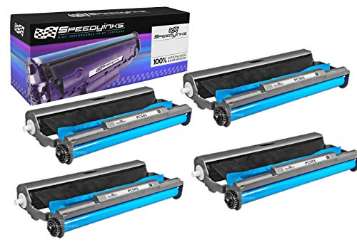 (Speedy Inks - 4 Pack PC501 Compatible with Brother Fax Cartridge with Roll for use in Brother FAX 575 Fax printers)