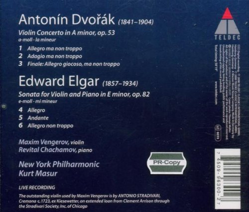 Dvorák: Violin Concerto / Elgar: Sonata for Violin and Piano ~ Vengerov
