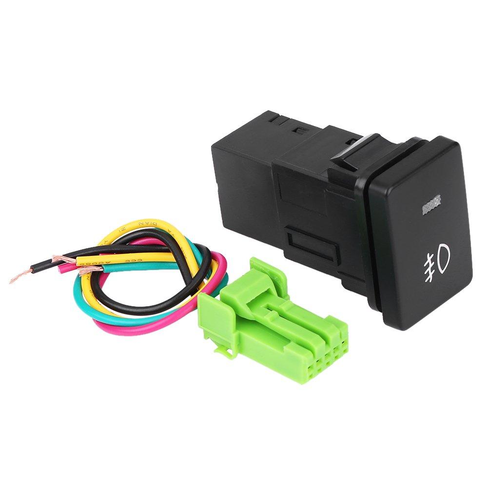 12V-24V LED Car Auto On Off Rocker Toggle Switch for Toyo-ta Camery Yaris Highlan-der Prius Carora LED Light Bar Rocker Switch ON-OFF LED Light Fog light pattern