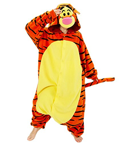 Tigger Pajama Costumes (Zorabridal Christmas Carnival Party Costume Adult Unisex Winter Wear Pajamas Onesies (Large, Tigger))