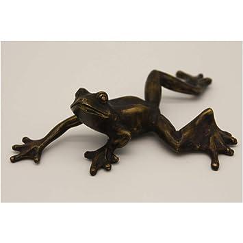 Steinfiguren Horn Liegender Frosch, Skulptur aus Bronze: Amazon.de ...