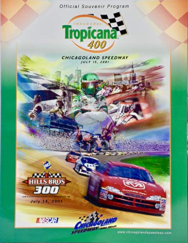 2001 - NASCAR/Chicagoland Speedway - Inaugural Tropicana 400 Official Program Plus Extras - Rare - Collectibles