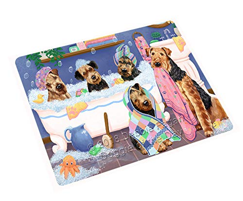 Rub A Dub Dogs in A Tub Airedale Terriers Dog Blanket BLNKT130161 (50x60 Plush) by Doggie of the Day (Image #3)