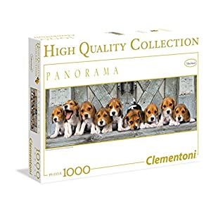 Clementoni Puzzle 39076 Beagles 1000 Pezzi High Quality Collection Panorama