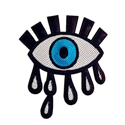 DIY Clothes Sewing Patch Sequins Eye Large Applique Fashion Accessories for T-Shirt