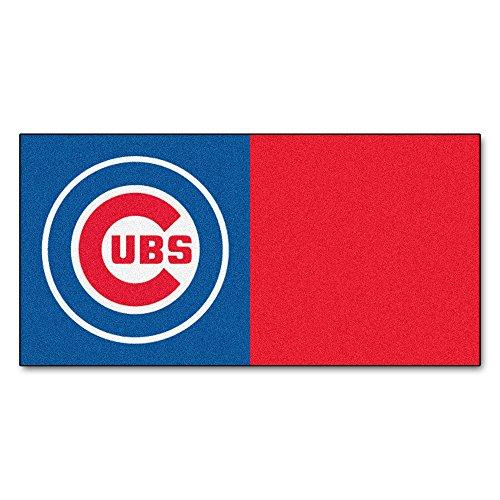 FANMATS MLB Chicago Cubs Nylon Face Team Carpet Tiles