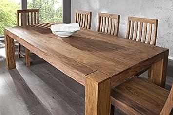 DuNord Design Esstisch Tisch JAKARTA 200cm Sheesham Massivholz Massiv Holz Tisch  Esszimmer