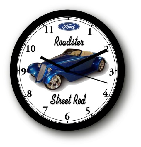 Ford Roadster Street Rod (1933 FORD ROADSTER STREET ROD WALL CLOCK-Free USA Ship)