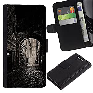 All Phone Most Case / Oferta Especial Cáscara Funda de cuero Monedero Cubierta de proteccion Caso / Wallet Case for Sony Xperia Z1 Compact D5503 // Street Old Town Medieval