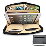 BUBM Portable Universal Electronic Accessories Organizer Travel Handbag Organizer Ipad Mini Case Cell Phone Carry Bag Cable Organizer Bag (S, Gray)