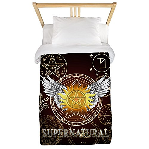 CafePress Supernatural Pentagrams Printed Comforter