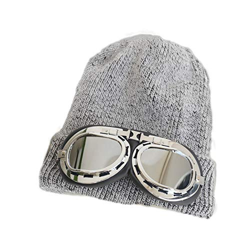 YXDDG Plain Knit Cap Cold Winter Cuff Beanie Women's Winter Beanie hat Fleece Lined with ()