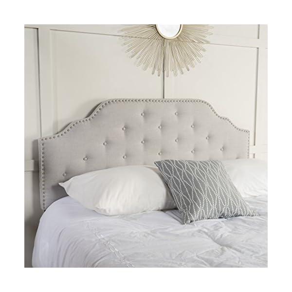 Christopher Knight Home Austell Fabric Headboard, Queen / Full, Light Grey