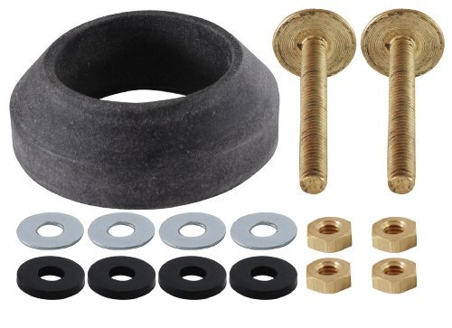 CRANE TANK TO BOWL GASKET INCL BRASS BOLT SETS & SPONGE RUBBER WASHER by LDR Industries