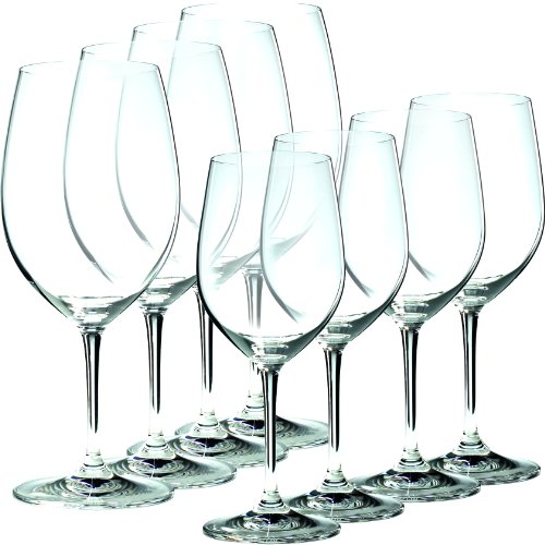 Riedel Vinum 8 Piece Chablis and Bordeaux Wine Glass Set, Buy 6 Get 8 ()