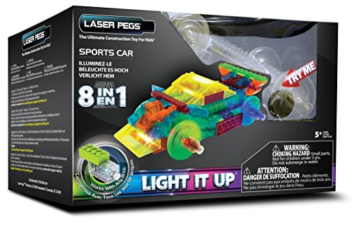 Price comparison product image Laser Pegs 8-in-1 Sports Car Building Set