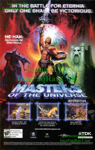He-Man: Masters of the Universe: Grayskull Eternia Battle Cat Power Sword: Great Original Video Game Print Ad! ()