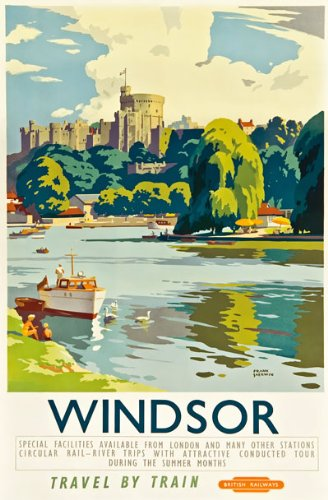 8855e1be74e TX340 Vintage Windsor Castle British Railway Travel Poster Re-Print - A2+  (610 x 432mm) 24