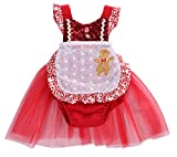 StylesILove Infant Baby Girl Tulle Sequin Romper Dress with Apron Design Christmas Outfit Dress 2 pcs Set (110/2-3 Years)