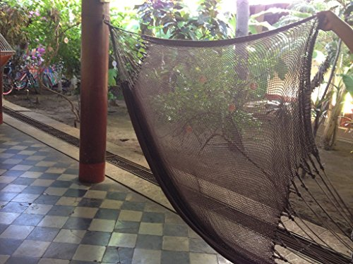 Handmade Mayan Hammock, Double Hammock, Brazilian Hammock – Made With 100% All Natural Cotton – The World's Best Hammock! (Double, Coffee)
