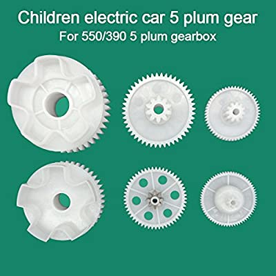 550 Full Set of Motor Drive Gear Gear Box Large Gear Middle Gear Small Gear for Kids Power Wheels Car,550 Gearbox Accessories Children Electric Ride On Toys Replacement Parts D: Toys & Games
