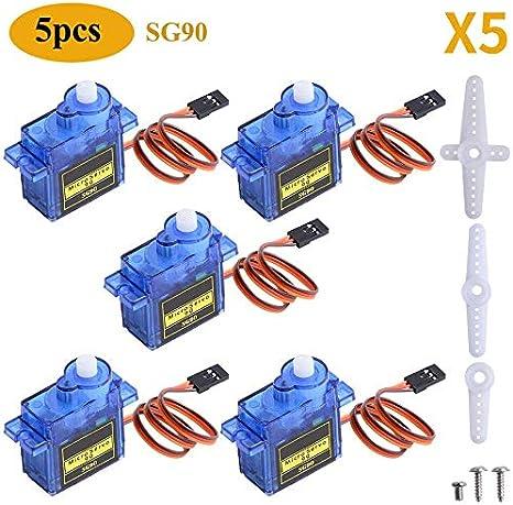 4Pcs 9G SG90 Micro Servomotore RC Robot Elicottero Controlli Aereo Auto Barca XCV