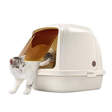 DAN Caja de Piedras Cerrada para Gatos con Pala, 15L