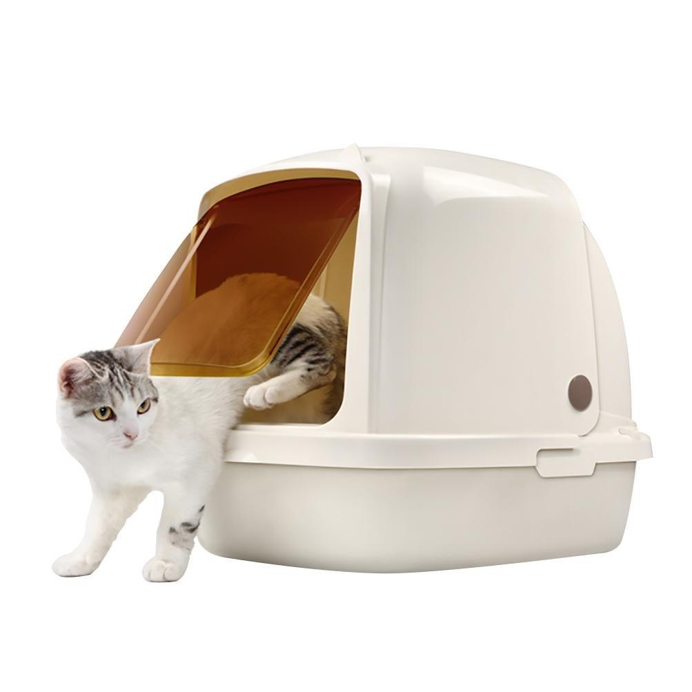 DAN Portable Side Enter Covered Cat Litter Box , 8L