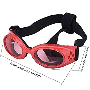 Mcitymall66 Cool Fashion Pet Dog Square Sunglasses UV Goggles Glasses Waterproof&Windproof Eye Protection for Small Dog