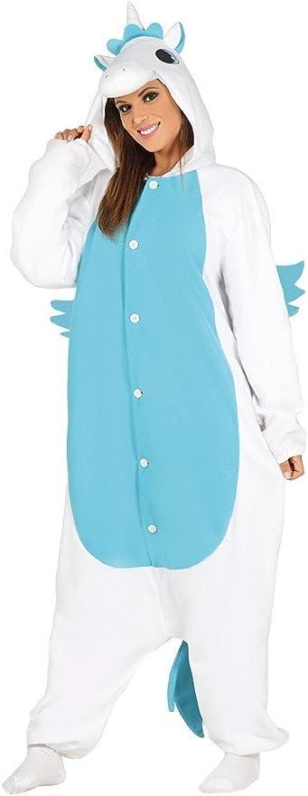 Costume pigiama unicorno azzurro tutone costplay