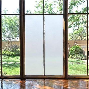 Protector de visión Havalime® prémium para ventanas, vidrio translúcido, mate, satinado, lámina estática autoadherente (sin pegamento), ofrece protección UV e intimidad, en 3 tamaños, vidrio, Milchglas, 200 x 90 cm vollflächig: Amazon.es: Hogar