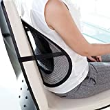 J Go Mesh Ventilation Back Rest with Lumbar Support (Pack of 2, Black)