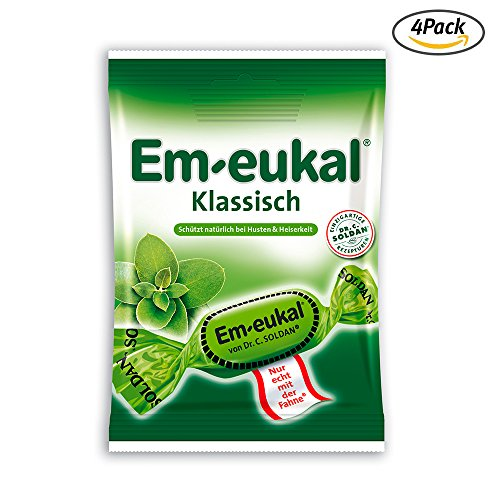 EmEukal Classic throat cough lozenges 75g 4Pack 68Drops by Em-Eukal