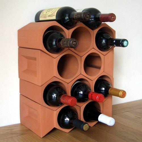 & Keystone 12 bottle terracotta wine rack: Amazon.co.uk: Kitchen u0026 Home