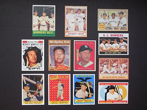 Mickey Mantle (12) Card Reprint Lot #6 All-Star, MVP, and Multi Player Cards (Yankees)