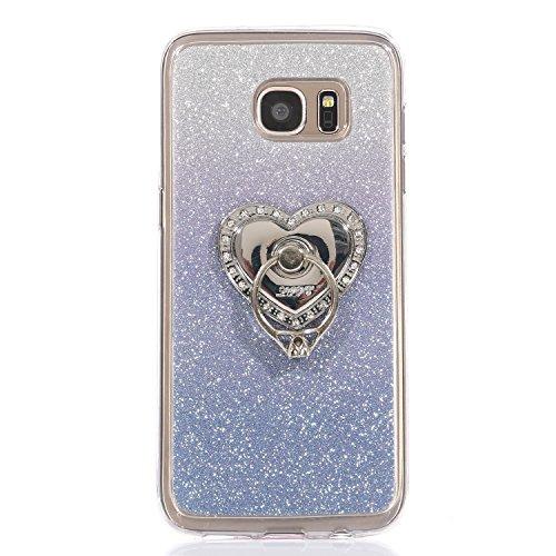 Funda para Galaxy S6 Edge, funda de silicona transparente para Galaxy S6 Edge, Galaxy S6 Edge Case Cover Skin Shell Carcasa Funda, Ukayfe caso de la cubierta de la caja protectora del caso de goma Ult Color 11
