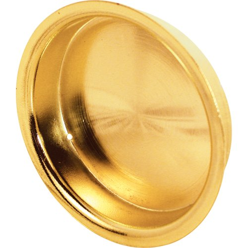 Prime-Line Products N 7137 2-1/8-Inch Round Closet Door Pull with Flush, Solid Brass,(Pack of 2)