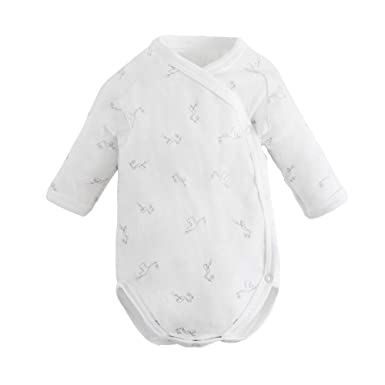 01731c2003 Under the Nile Organic Cotton Baby Unisex Long Sleeve Side Snap Bodysuit  Onesie Mitts (Newborn